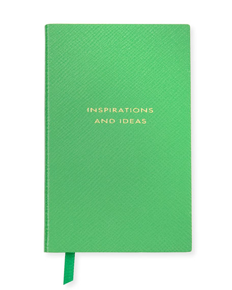 """Inspirations and Ideas"" Panama Notebook, Green"