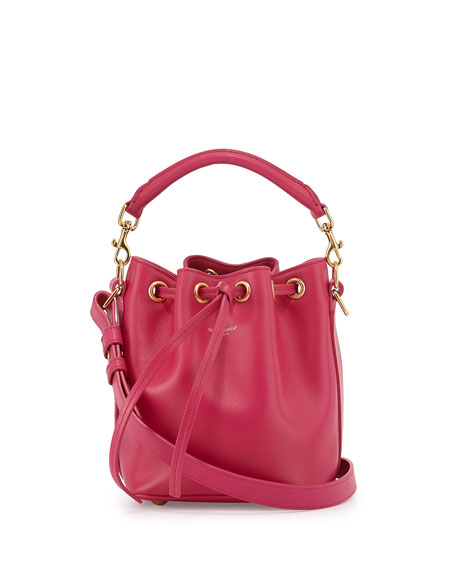 Saint Laurent Small Bucket Crossbody Bag, Fuchsia