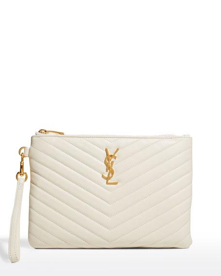 yves saint laurent monogramme zip around wallet