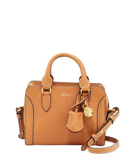 Mini Padlock Satchel Bag, Camel