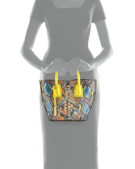 Cavenish Faux-Python Mini Tote Bag