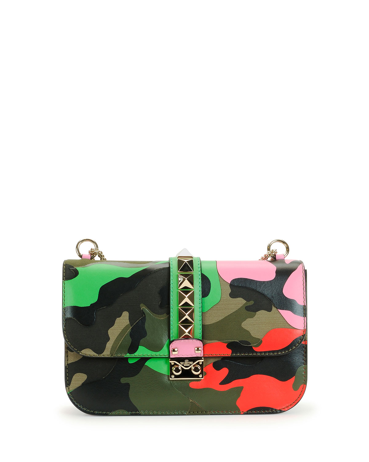 2323934d5d7d6 Valentino Garavani Lock Psychedelic Camo Medium Shoulder Bag ...