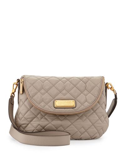 New Q Natasha Quilted Crossbody Bag, Cement