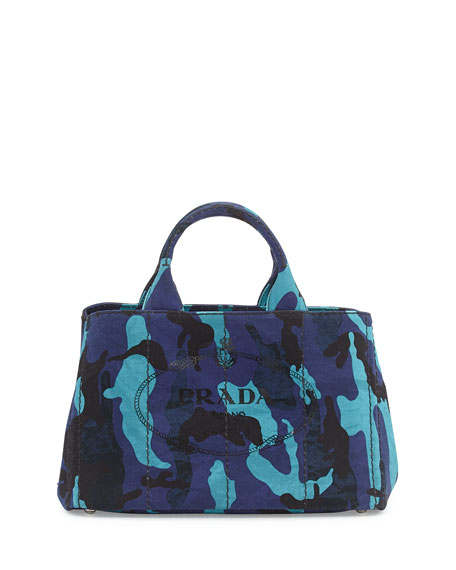 pink pradas - Prada Canapa Canvas Camouflage Gardener's Tote Bag, Royal Blue (Royal)