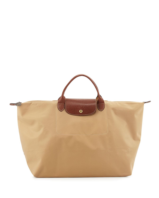 acc94817aba3 Longchamp Le Pliage Large Travel Bag, Beige | Neiman Marcus