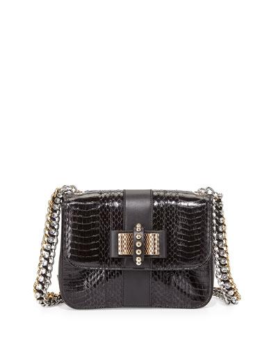 Sweet Charity Mini Snakeskin Backpack, Black