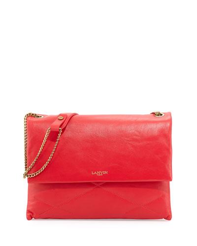 Sugar Medium Chain Shoulder Bag, Raspberry
