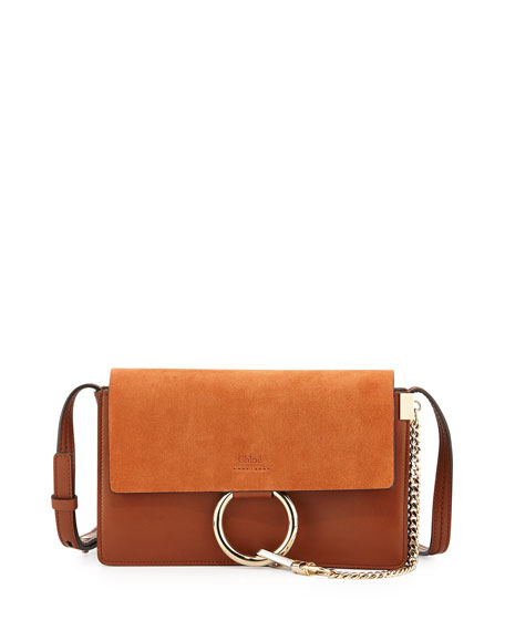Image 1 of 3: Chloe Faye Small Suede Shoulder Bag