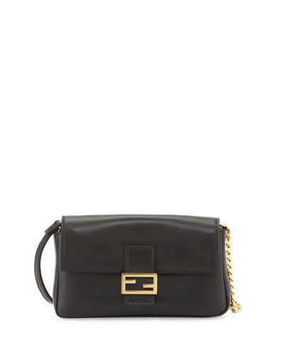 Micro Fendista Shoulder Bag, Black