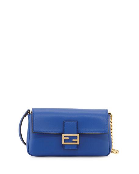 Fendi Micro Leather Baguette, Blue
