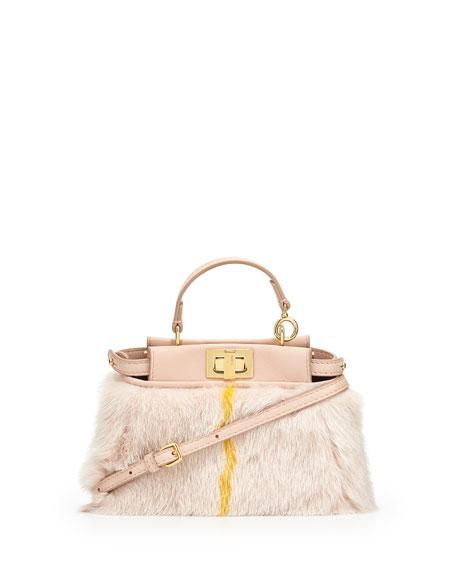 Micro Peekaboo Satchel Bag, Light Pink