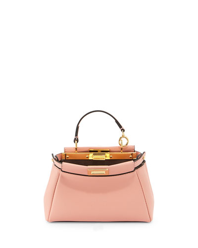 Peekaboo Micro Satchel Bag, Light Pink