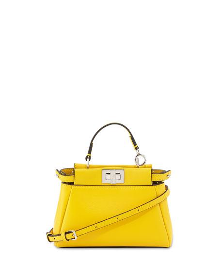 6b97b600ef Fendi Peekaboo Micro Satchel Bag, Yellow