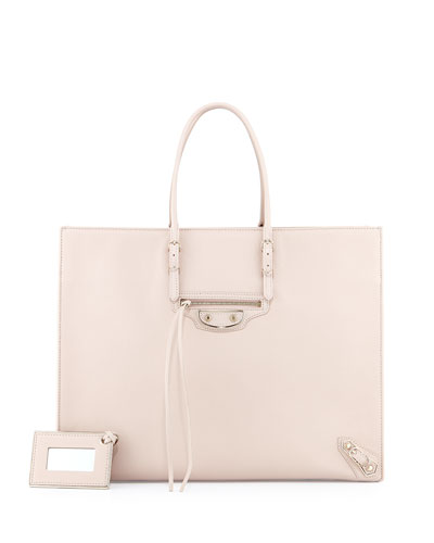 Paper A4 Tote, Light Pink