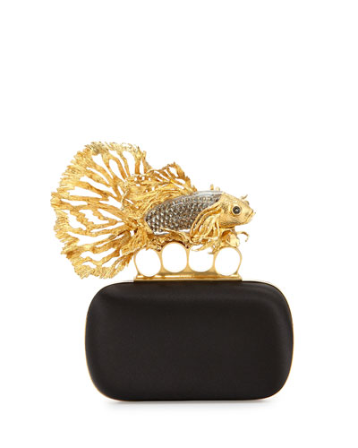 Fish Knuckle Box Clutch Bag