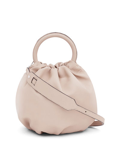 Bounce Gathered Lambskin Bag, Beige