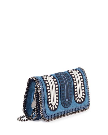 68e6702f18a8 Stella McCartney Falabella Embroidered Denim Crossbody Bag
