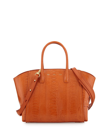 VBH Brera 30 Sport Ostrich Satchel Bag, Orange