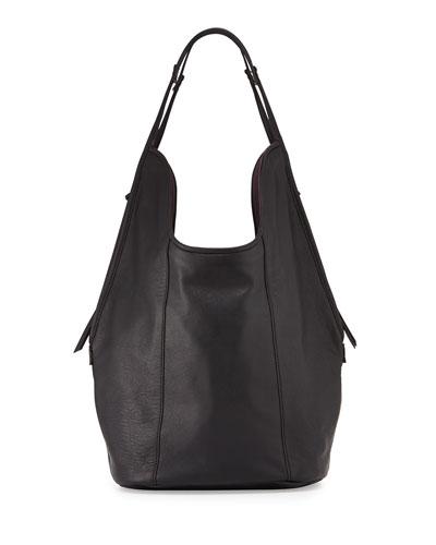 Meadow Lambskin Tote Bag, Black