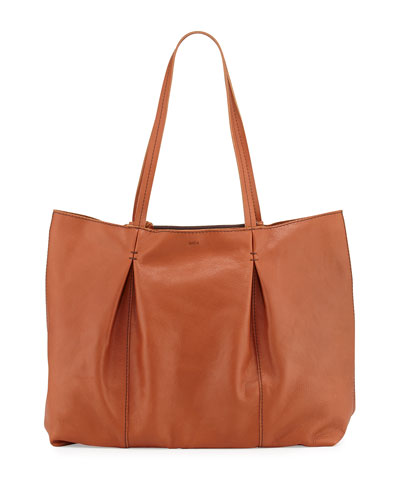 Austin Leather Tote Bag, Cognac