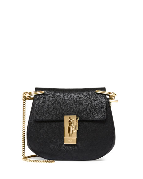 Drew Small Shoulder Bag, Black