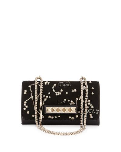 Va-Va-Voom Constellation Embroidered Shoulder Bag