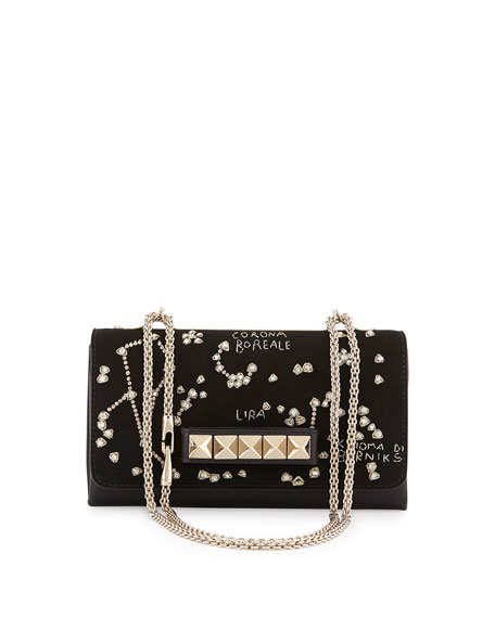 Valentino Va-Va-Voom Constellation Embroidered Shoulder Bag