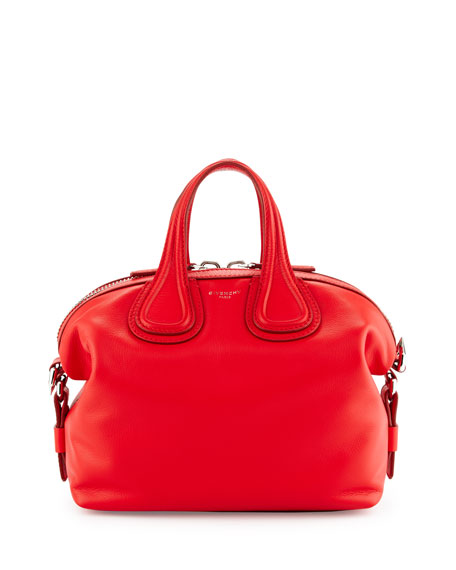 Givenchy Nightingale Small Waxy Leather Satchel Bag