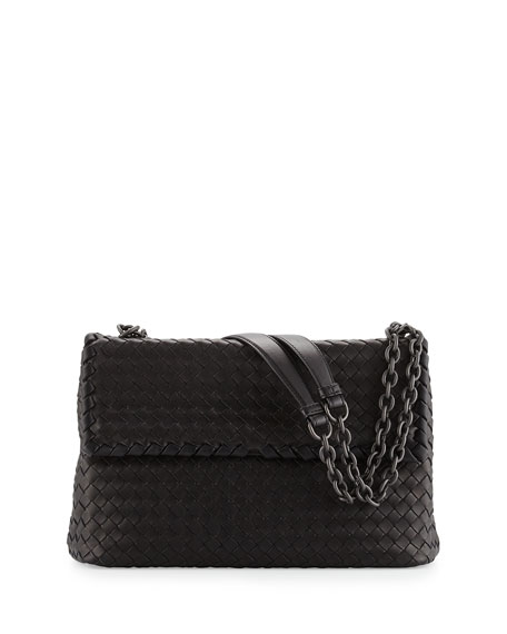 Bottega Veneta Olimpia Medium Shoulder Bag, Black