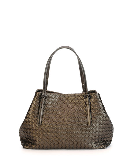 Bottega Veneta Medium A-Shaped Tote Bag, Bronze