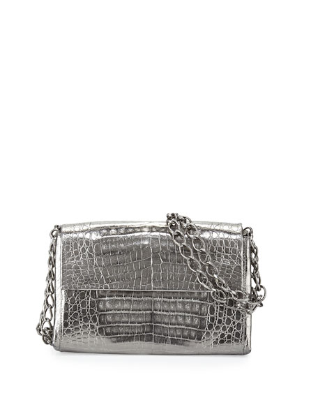 Nancy Gonzalez Crocodile Small Chain-Strap Shoulder Bag,
