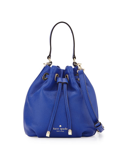 cobble hill wyatt mini bucket bag, bright lapis