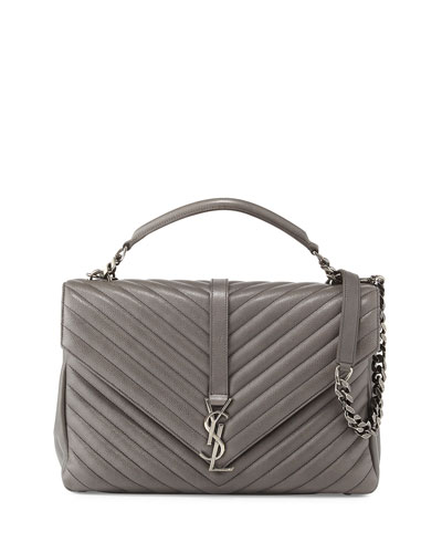 Monogram College Large Chain Satchel Bag