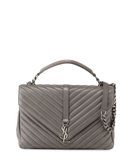 18ccaef03e85 Saint Laurent Monogram YSL College Large Chain Shoulder Bag