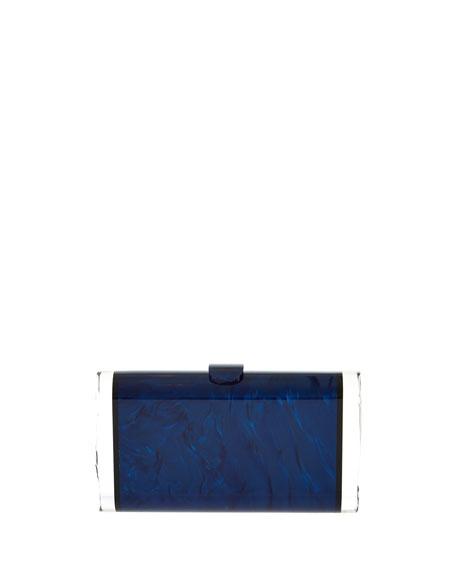 Edie Parker Lara Acrylic Backlit Clutch Bag, Sapphire/Obsidian