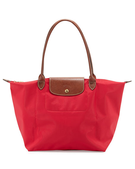 Longchamp Le Pliage Large Shoulder Tote Bag, Red
