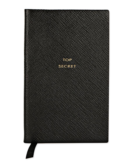 """Top Secret"" Panama Notebook, Black"