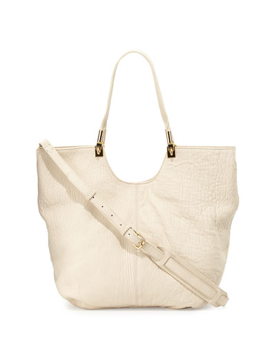 Convertible Large Shopper Bag, Cream