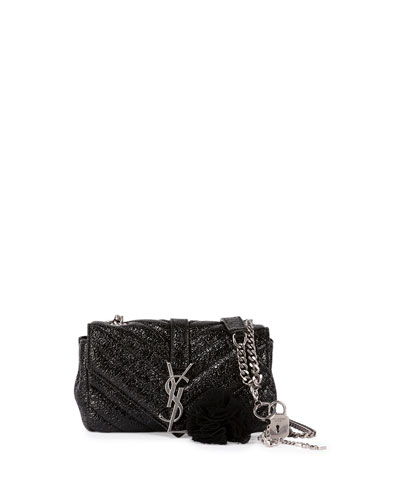Monogram College Small Crinkle Patent Punk Chains Crossbody