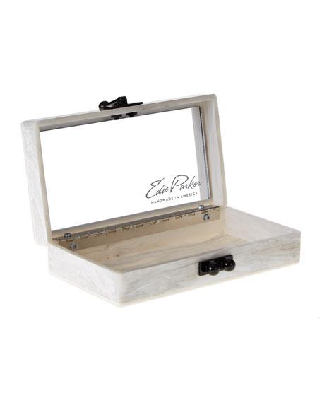 Edie Parker Jean Confetti-Striped Box Clutch Bag