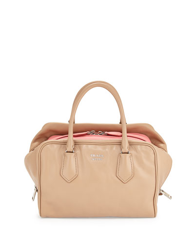 Medium Soft Calf Inside Bag, Blush/Rose (Cammeo+Rosa)