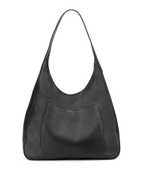 22015d596ea8 Prada Vitello Daino Medium Pocket Hobo Bag, Black (Nero) | Neiman Marcus