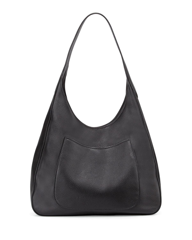 fcafaec015e0 Prada Vitello Daino Medium Pocket Hobo Bag, Black (Nero) | Neiman Marcus