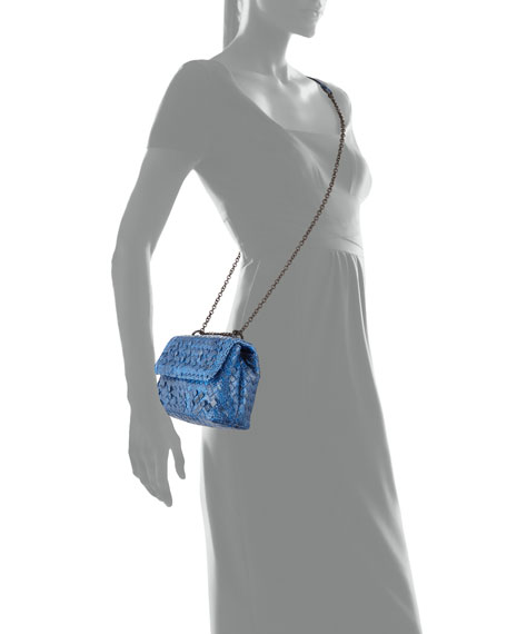 Baby Olimpia Snakeskin Shoulder Bag