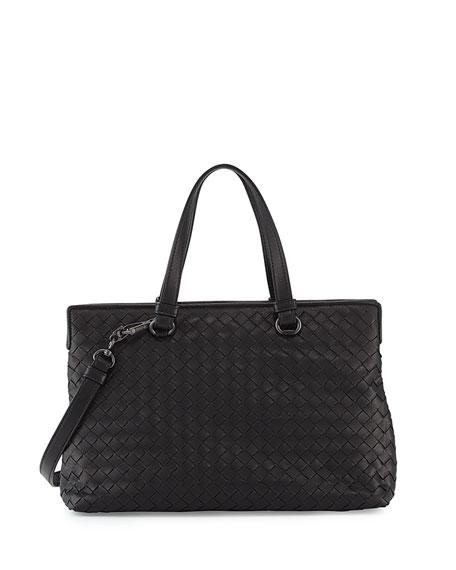 Intrecciato Leather Shoulder Bag - Black Bottega Veneta JbJaxghf
