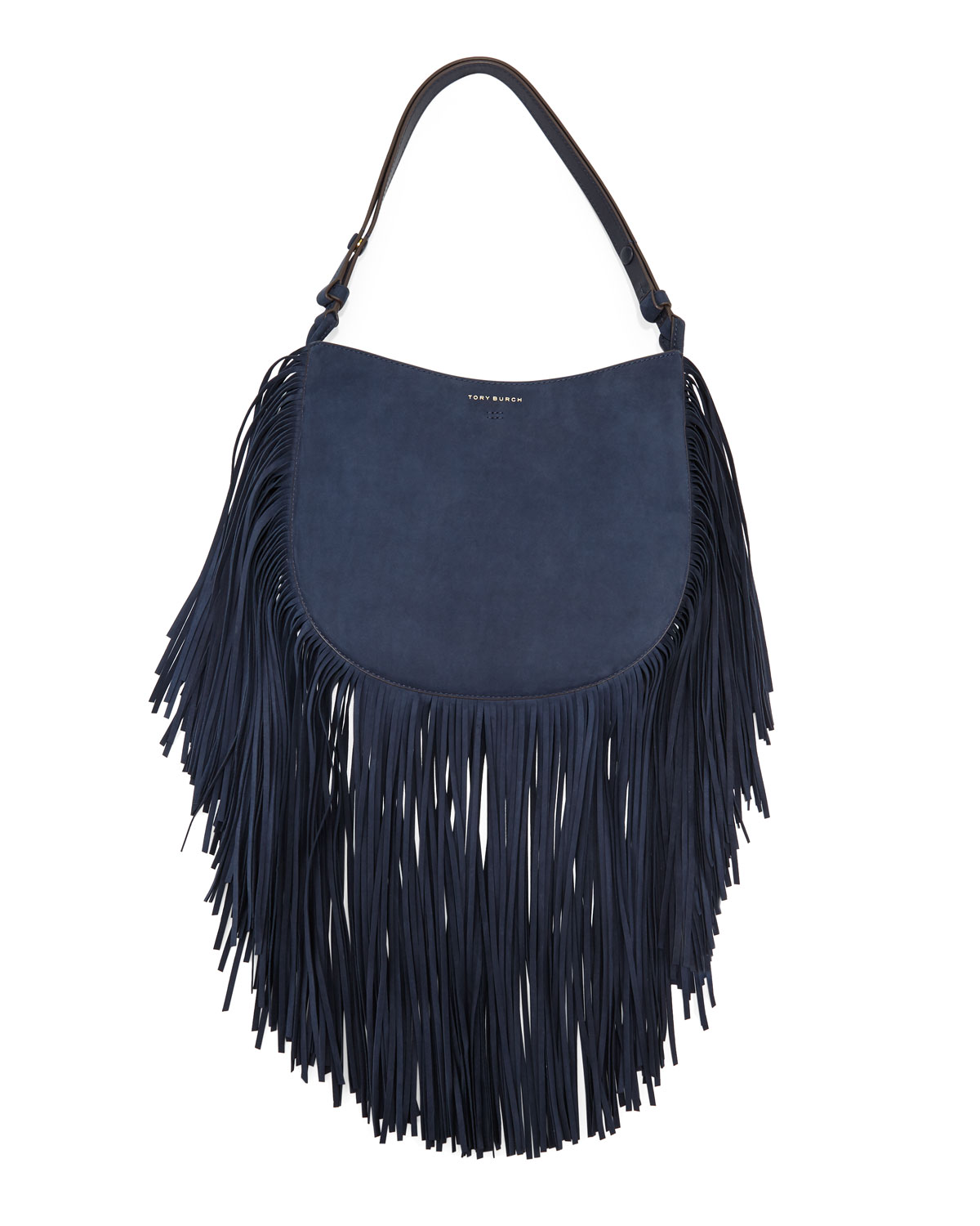 de16cb87f30 Tory Burch Suede Fringe Hobo Bag