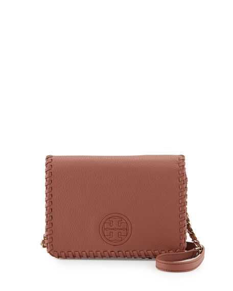Tory Burch Marion Combo Crossbody Bag, Maple Sugar