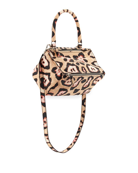Givenchy Pandora Small Jaguar-Print Shoulder Bag