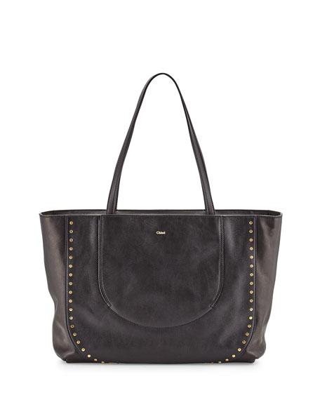 Chloe Isa Calfskin Shopper Bag, Black