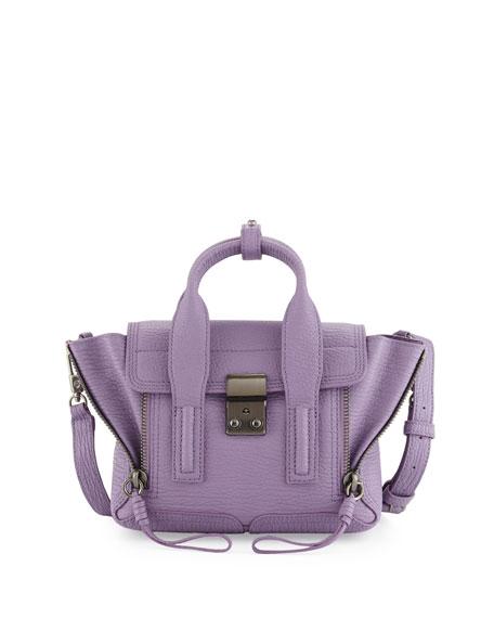 3.1 Phillip Lim Pashli Mini Leather Satchel Bag, Violet